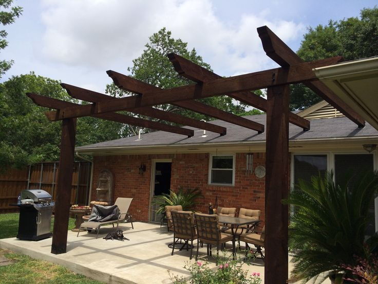 Low Price Pergola Attached To House Roof Garden Landscape