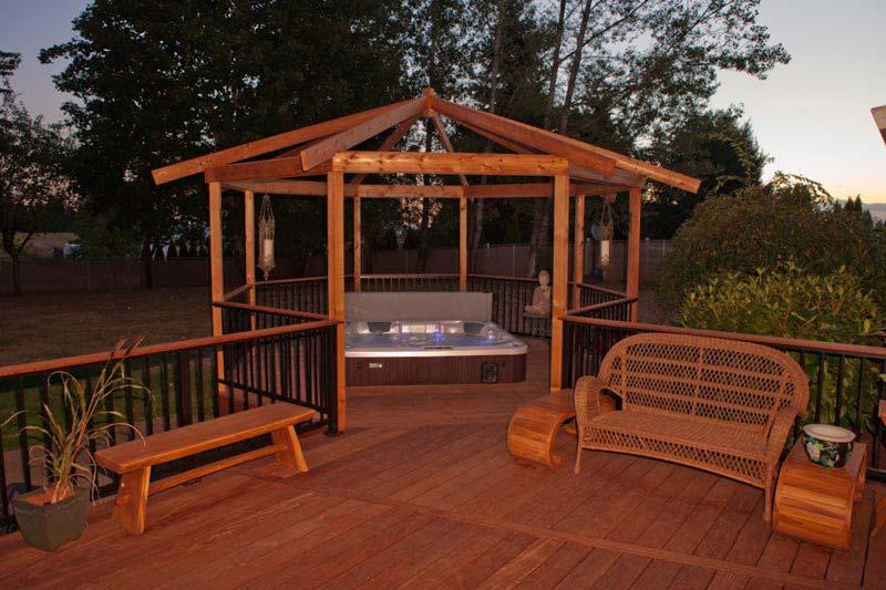 Benefits costco hot tub gazebo garden landscape for Hot tub gazebo plans