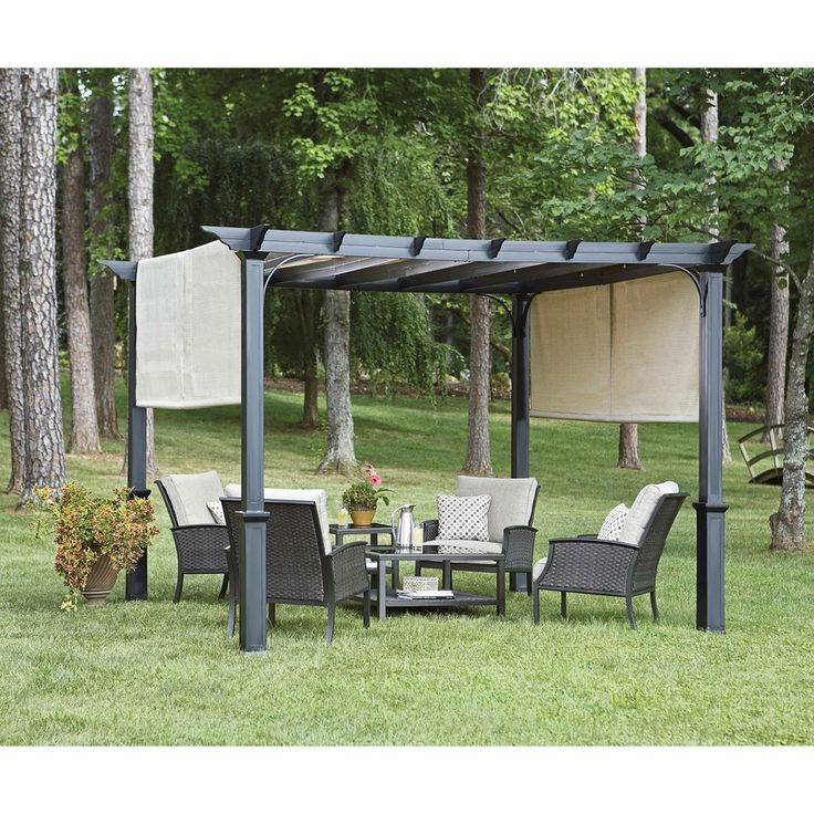 Steel Freestanding Pergola at Lowes.com: Shops Gardens, 10Ft, Steel . - - Pergolas At Lowes Anata Decor