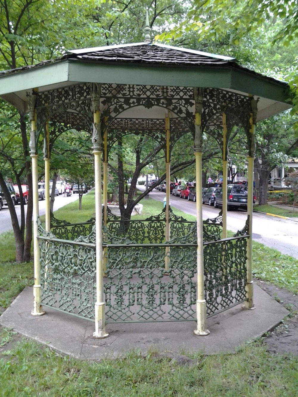 wrought iron patio gazebo