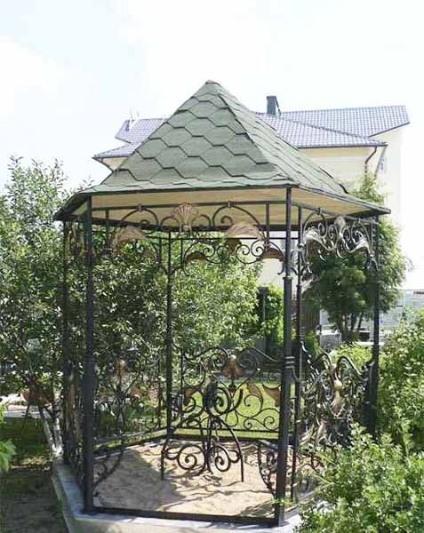 wrought iron gazebo designs