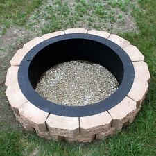 36″ HEAVY DUTY STEEL FIRE PIT RIM WITH POKER TOOL IN GROUND OR ABOVE GROUND DIY