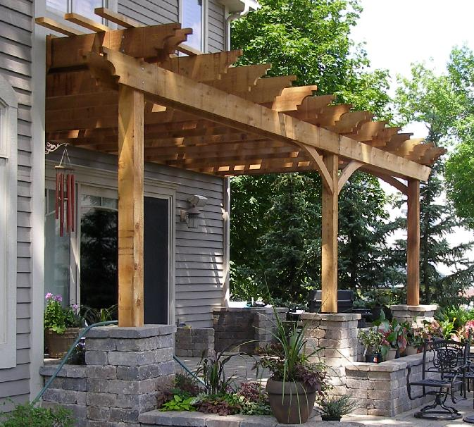 Pergola Attached To House Photos   Incredible Pergola Attached To House  Photos Garden Landscape