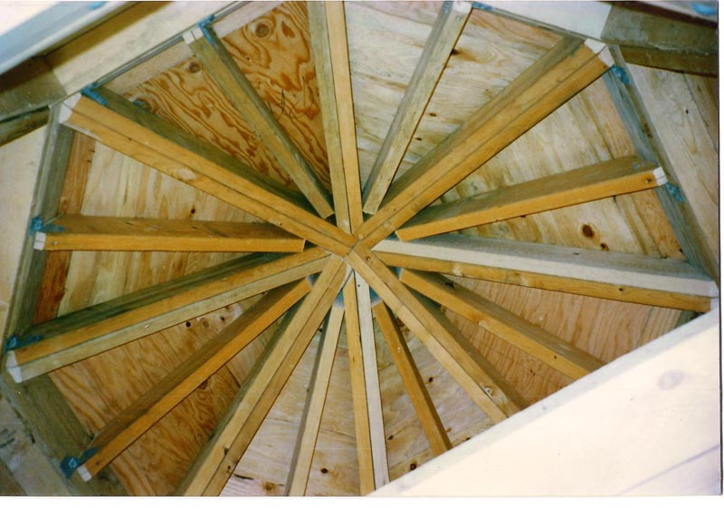 Benefits how to build a hexagon gazebo roof garden landscape for Hexagonal roof framing