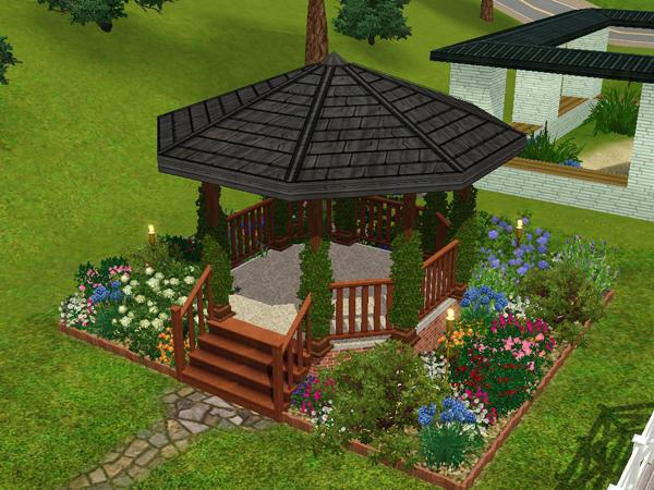 Fabulous how to build a gazebo sims 3 garden landscape for Garden design sims 4