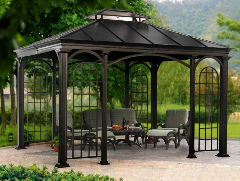Review costco black metal gazebo | Garden Landscape