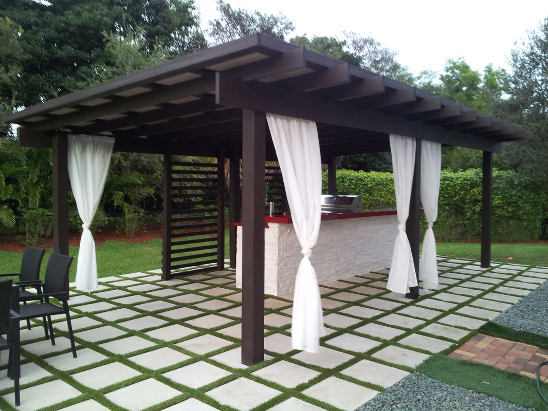 astounding modern pergolas miami garden landscape. Black Bedroom Furniture Sets. Home Design Ideas