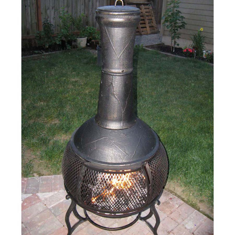 Wonderful Chiminea Fire Pit Lowes Garden Landscape