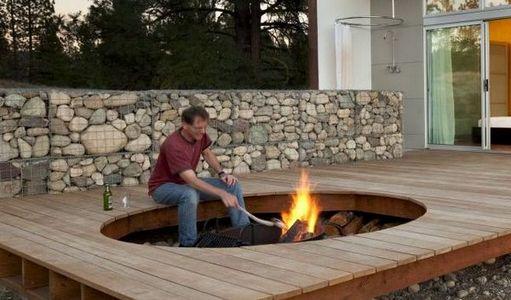 Popular brick fire pit kit uk garden landscape for Stone fire pit design ideas