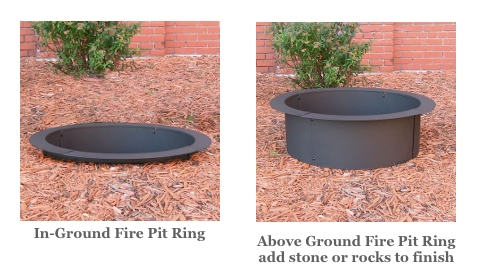 In Ground Wood Burning Fire Pit Kits