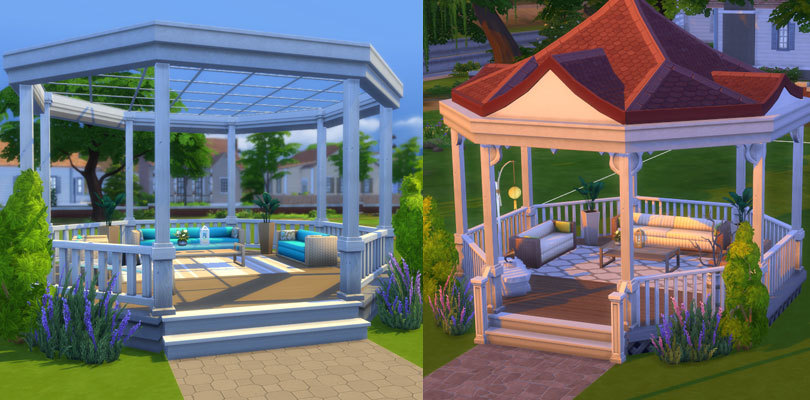how to build a gazebo sims 3