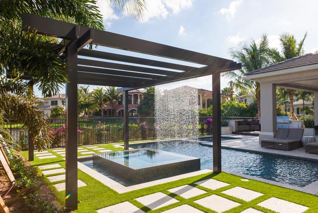 Astounding Modern Pergolas Miami Garden Landscape