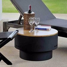 23″x23″x14″ FIREPIT/SIDE TABLE for RAISED Concrete/Block/Gravel/Dirt Surfaces