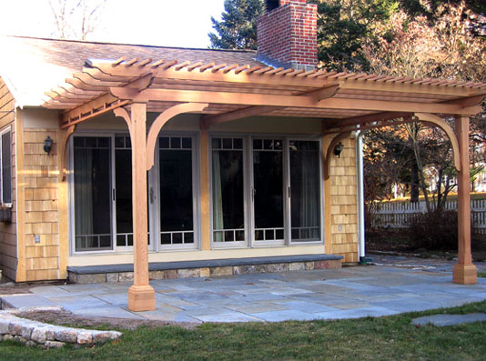 Patio Pergola Attached To House