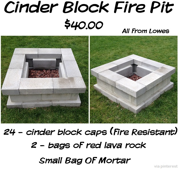 Benefits concrete block fire pit plans garden landscape for Cement block house plans