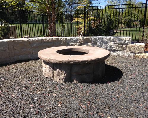Cast Concrete Fire Pit