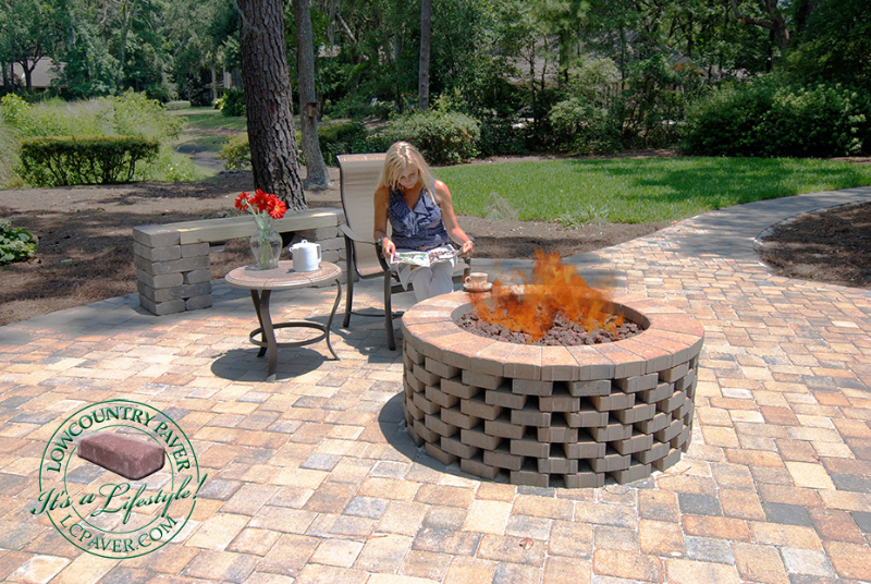 popular paver fire pit plans garden landscape