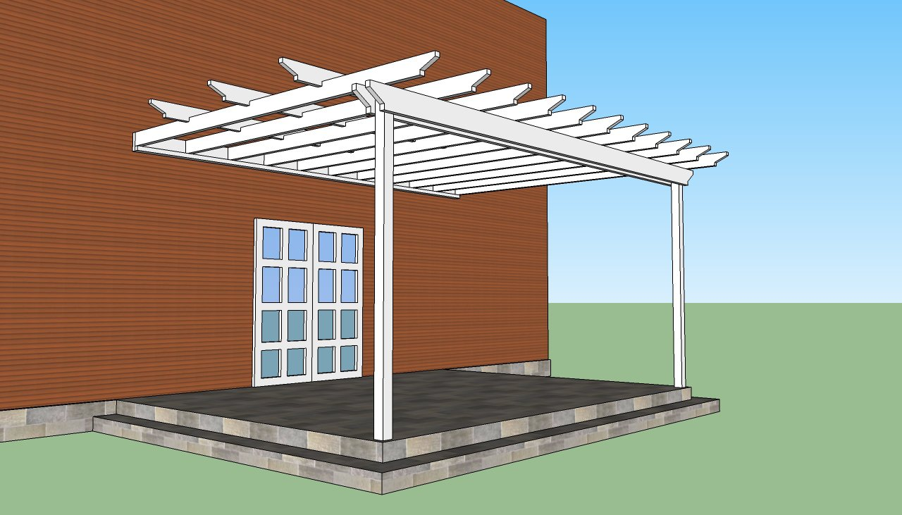 Free Pergola Designs Attached To House