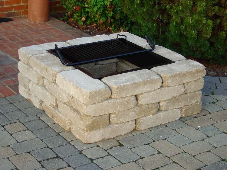 Square Fire Pit Designs : Astonishing square brick fire pit designs garden landscape
