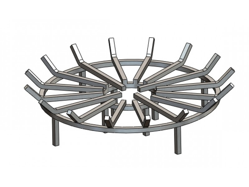 Round Outdoor Fire Pit Grate