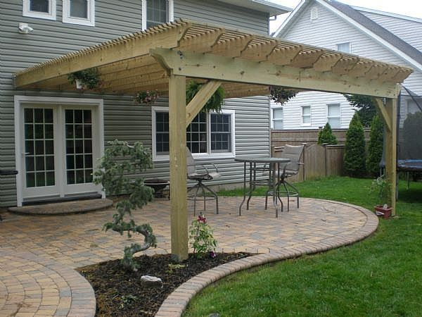 Pictures Of Pergola Attached To House
