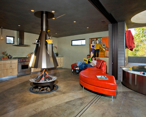 Beautiful Indoor Gas Fire Pit Contemporary - Amazing House ...