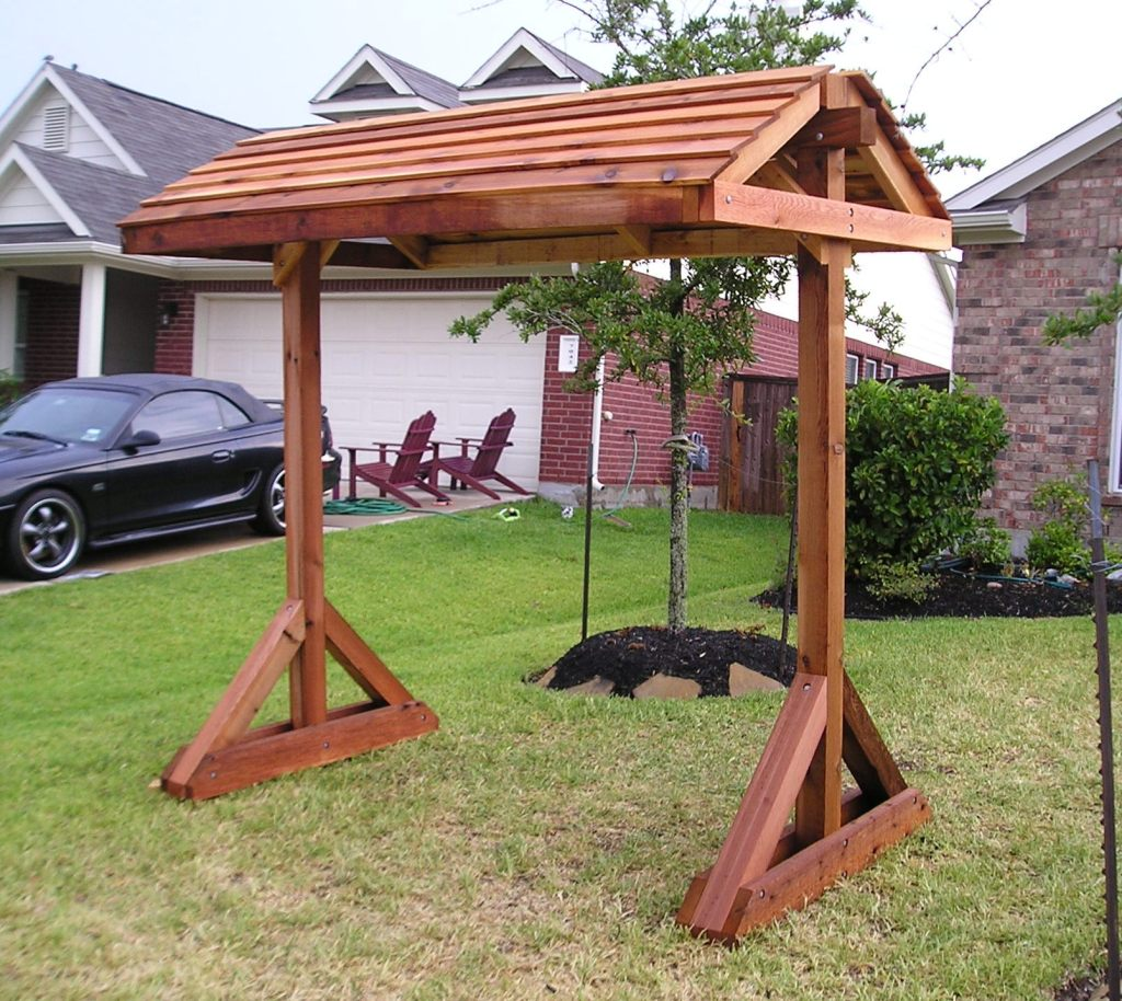 Extraordinary pergola swing stand plans garden landscape for Outdoor swing plans