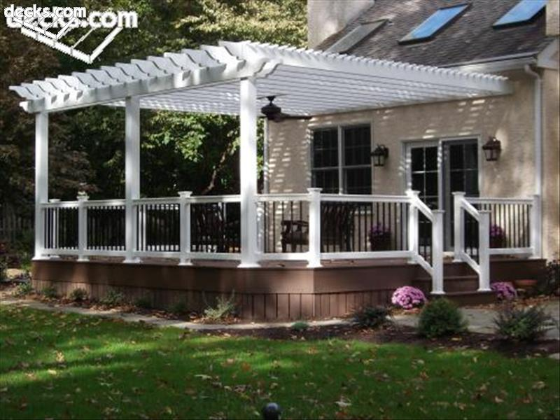 Pergola Attached To Brick House