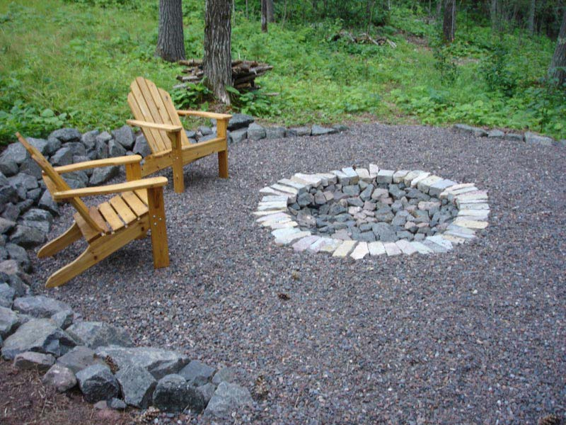 Lovely In Ground Backyard Fire Pit Garden Landscape