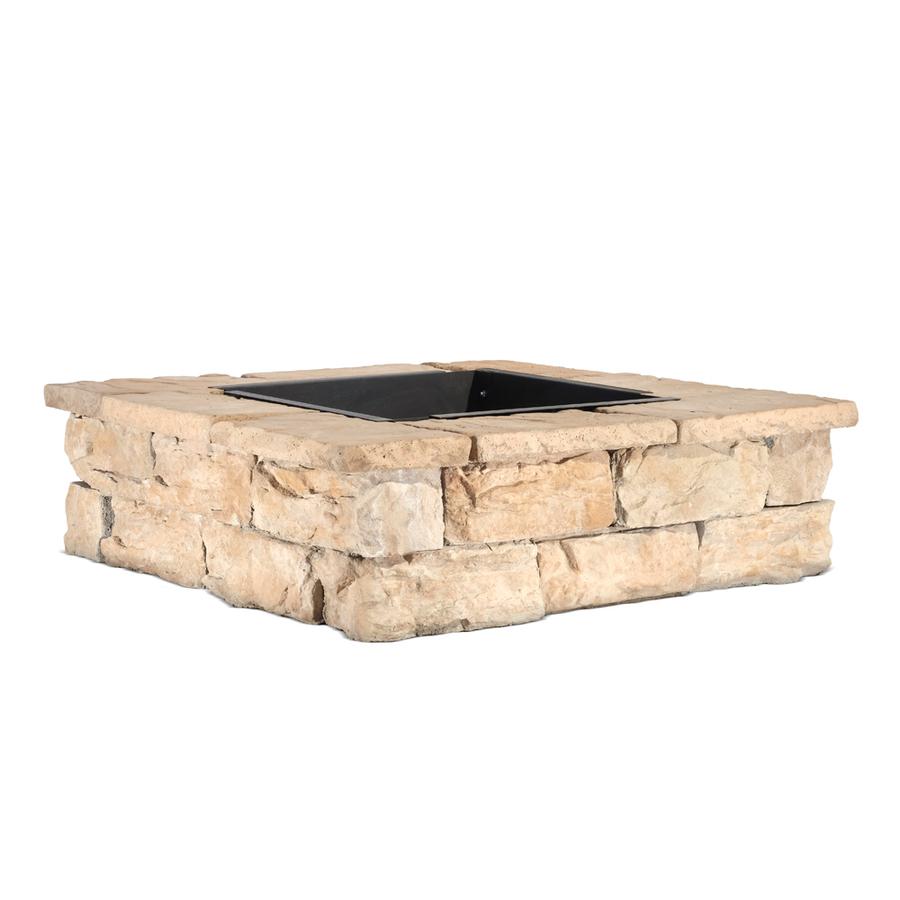 Low price lowes brick fire pit kit garden landscape for Lowes fire pit