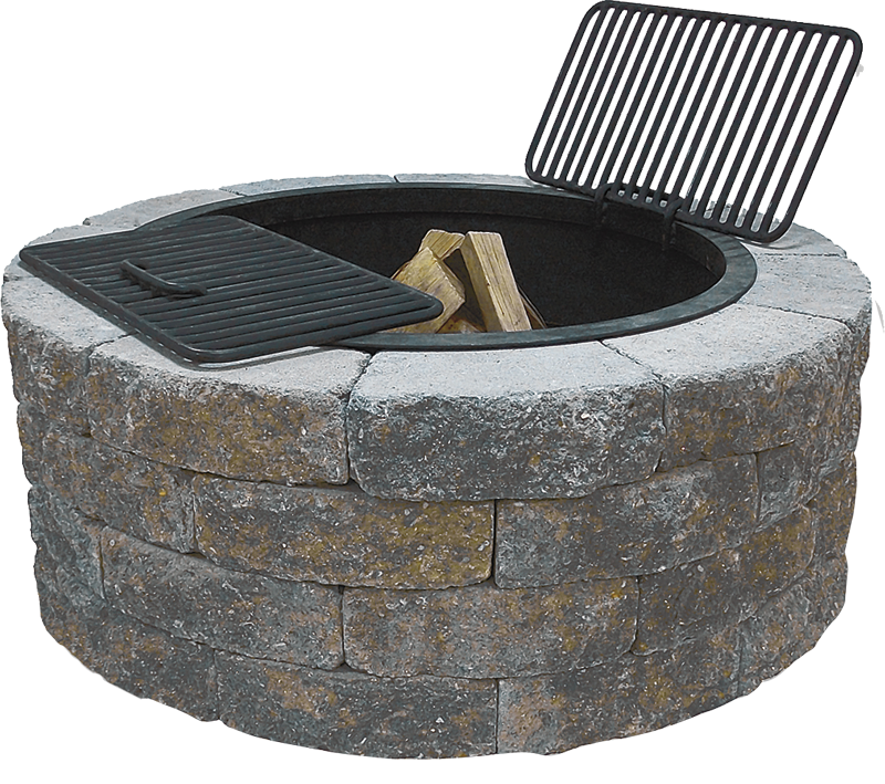 Buy concrete fire pit kit garden landscape for Precast concrete outdoor fireplace kits