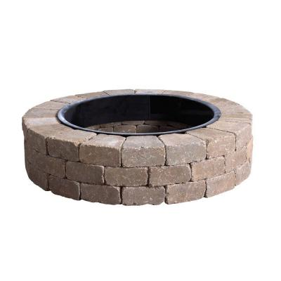 Fresco Round Fire Pit Kit with Metal Liner-70300879 - The Home Depot - Review Fire Pit Liner Home Depot Garden Landscape