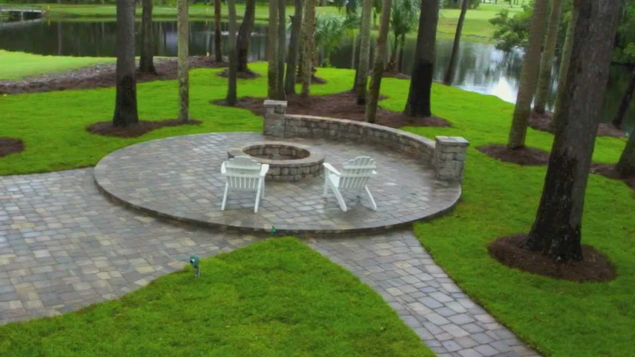 Insider Concrete Paver Fire Pit Garden Landscape