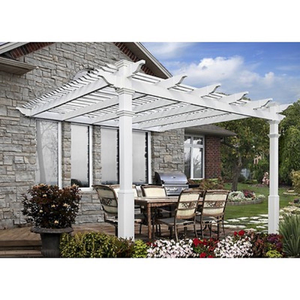 Fabulous how to build a pergola attached to the house for How do i build a house