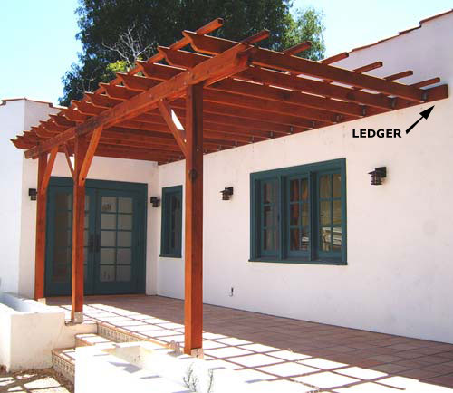 Fabulous how to build a pergola attached to the house for How to build an a frame home