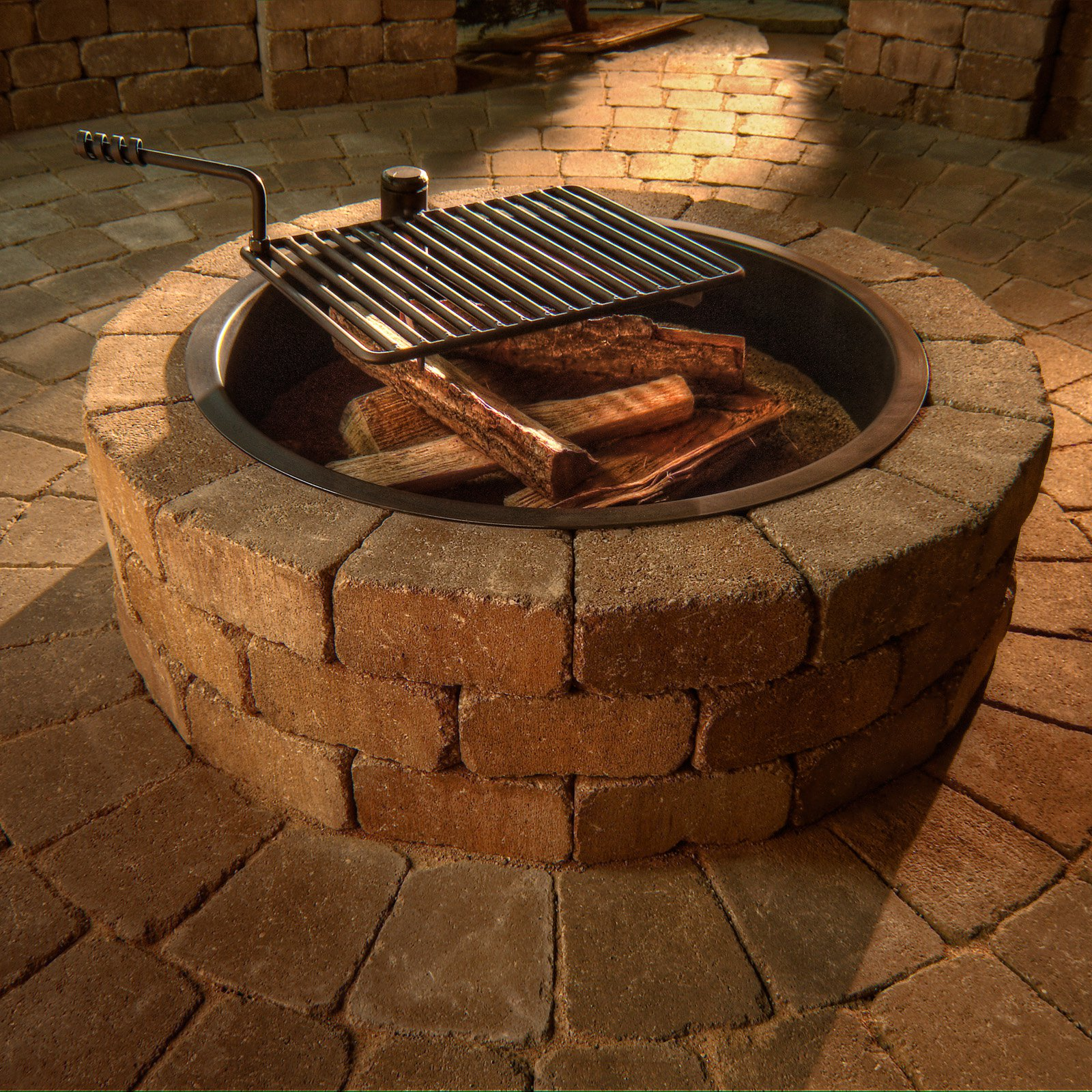 Incredible Fire Pit Ring Grate Garden Landscape