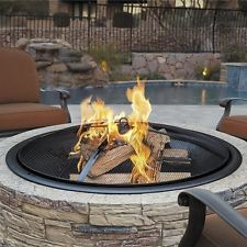 Outdoor Patio Fire Pit Stone Wood Grill Brick Fireplace Firepit Screen Backyard