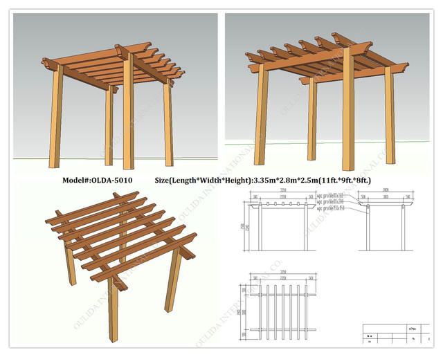 Incredible free standing pergola plans designs garden for Diy free standing pergola