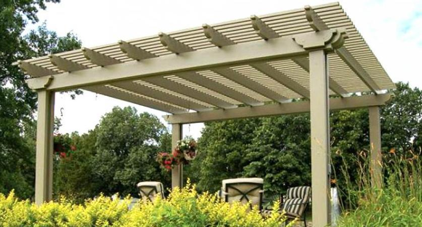 Wonderful free standing pergola pictures garden landscape for Diy free standing pergola