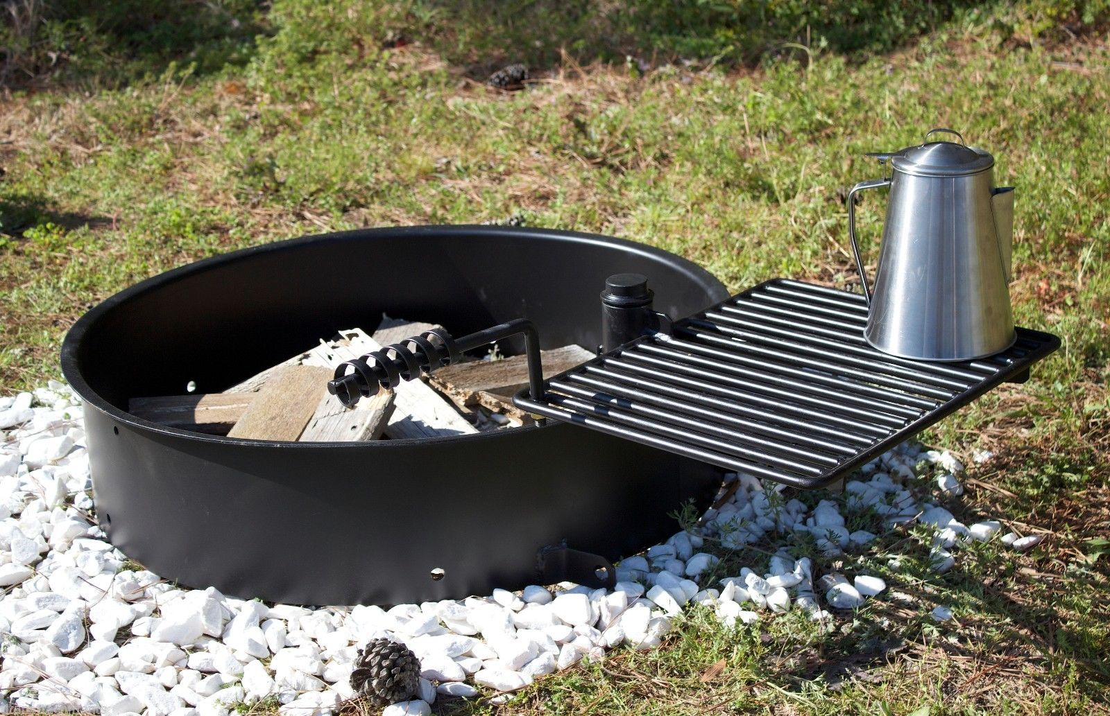 Fire Pit Steel Ring And Grate