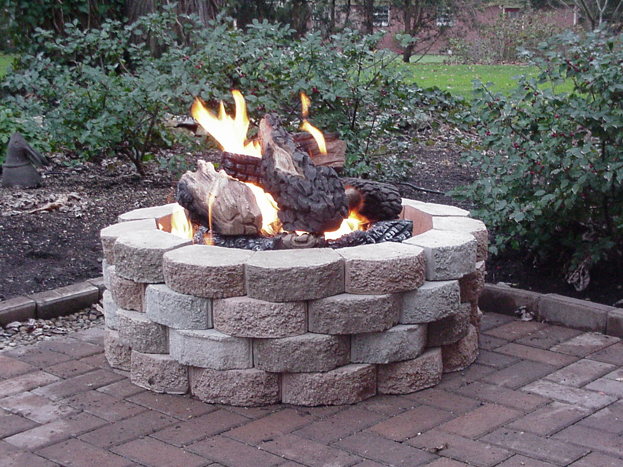all deluxe fire pit kits ship free - Gas Fire Pit Kit