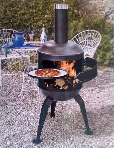 Chiminea Fire Pit Pizza Oven