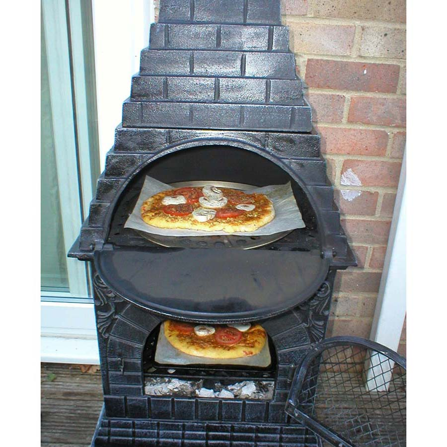 Low Price Chiminea Fire Pit Pizza Oven Garden Landscape