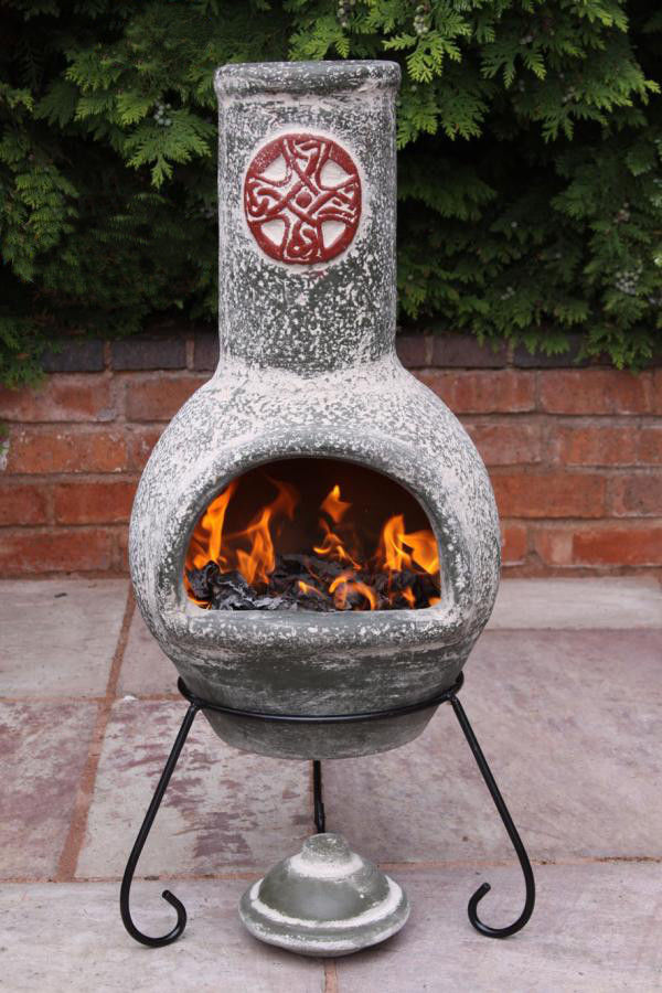 Large Chiminea Fire Pit