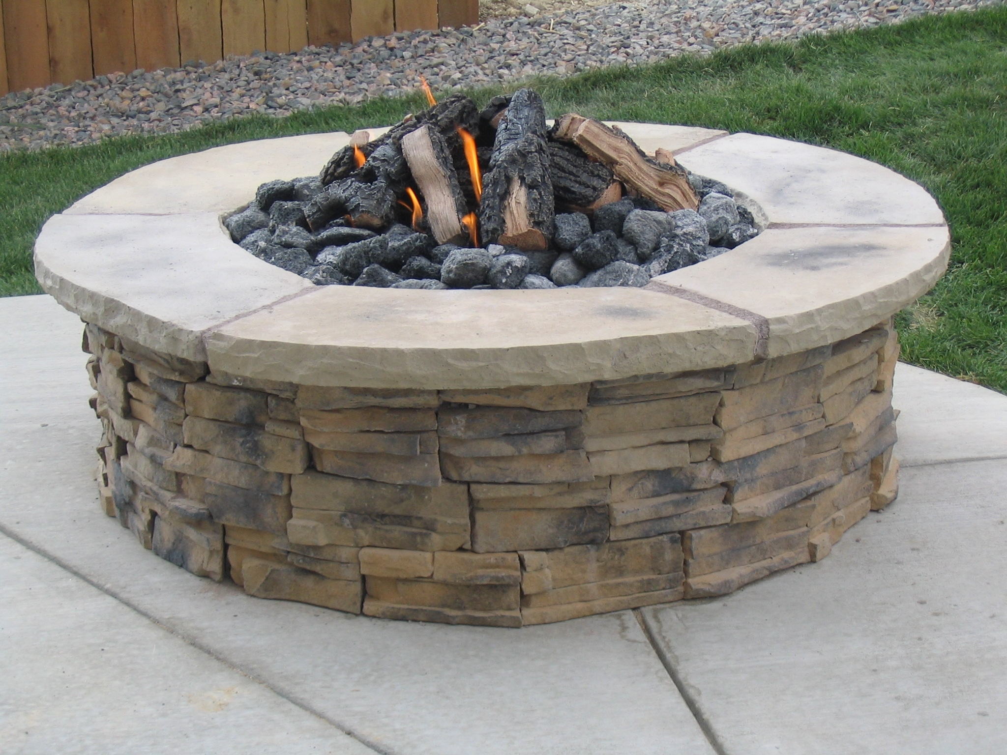 wonderful building fire pit ideas garden landscape