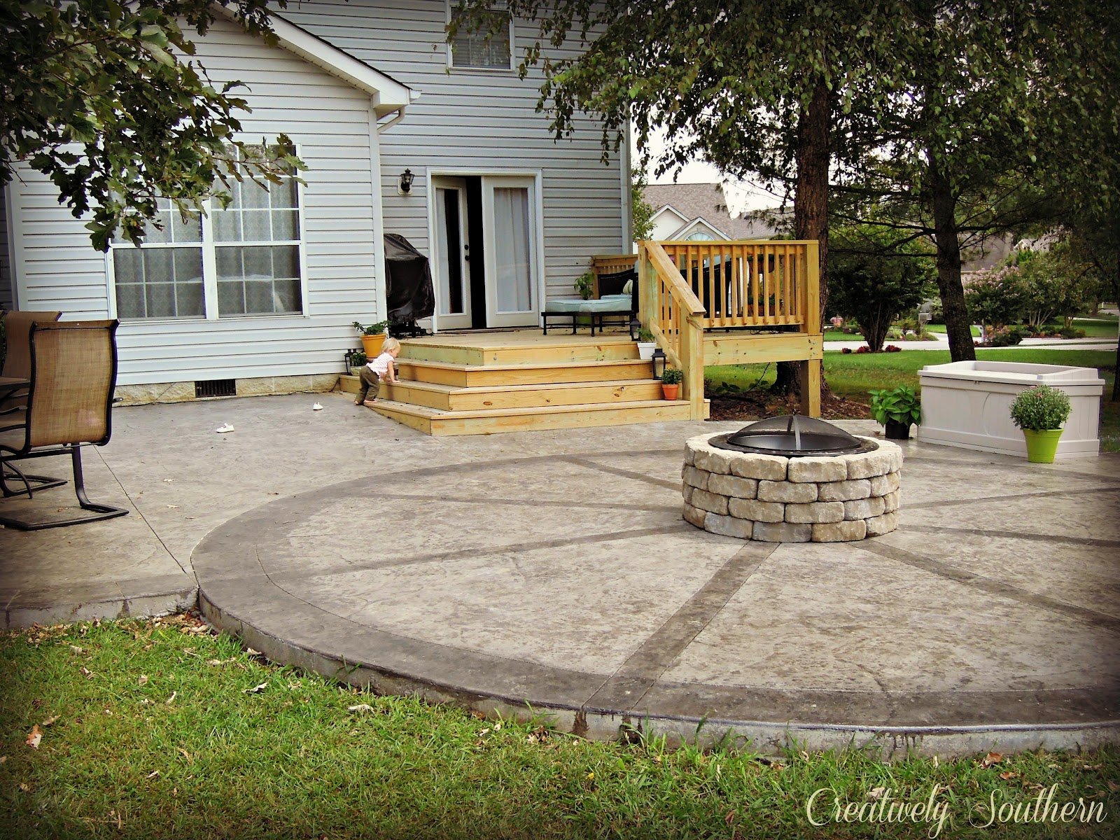 Building Fire Pit On Concrete Patio