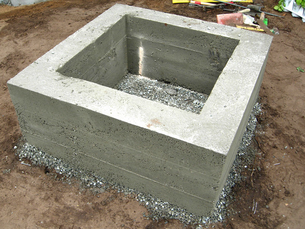 Superieur How To Make A Concrete Fire Feature | How Tos | DIY. Building Fire Pit On Concrete  Patio