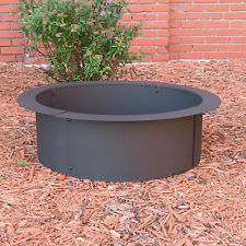 Outdoor Patio Garden Fire Pit Rim In Ground Above Ground Home Project Steel
