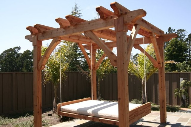 Pergola With Swing Bed