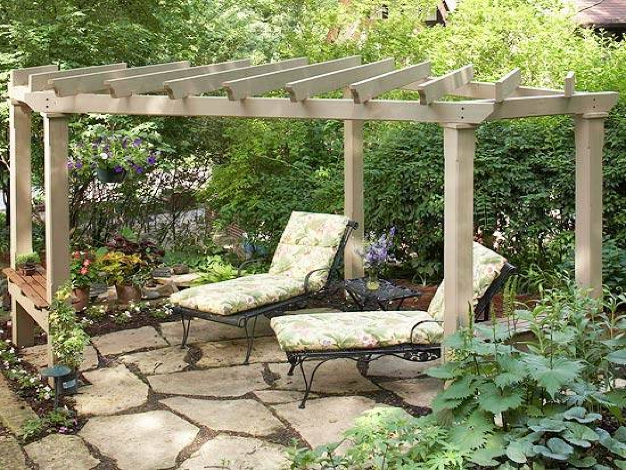 Low price pergola attached to house ideas garden landscape for Home designs ideas